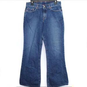 Vintage 90s Lucky Brand dark wash flare jeans